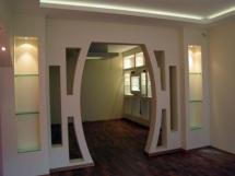 Необычная арка из гипсокартона