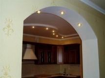 Подсветка гипсокартонной арки