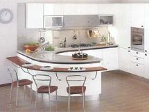 Интерьер кухни с барной стойкой фотографии
