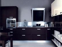 кухня в черно белом цвете