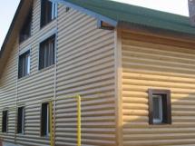 отделка загородного дома вагонкой под блок хаус