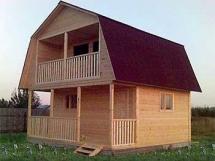 Дачный дома эконом класса из кленного бруса цена