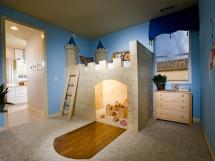 кровать чердак для мальчика с игровой зоной