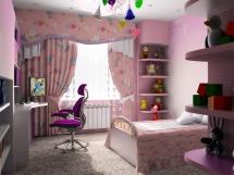Дизайн детской комнаты для девочки, оформление, выбор цвета