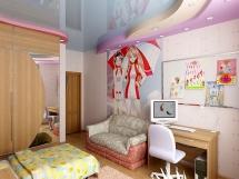 Интерьер современного дизайна комнаты ты для девочки фото