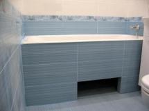 как сделать экран под ванну из плитки