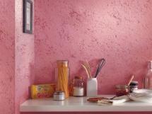 розовая фактурная краска для кухни