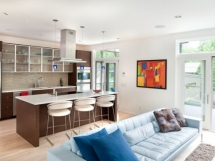 дизайн интерьере совмещенной гостиной с кухней