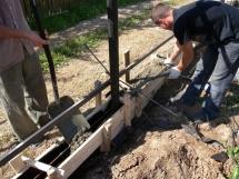 строительство фундамента и установка забора из профнастила