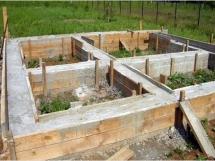 Как залить фундамент под баню, технология, стоимость и размер фундамента под баню