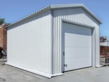 металлический каркасный гараж