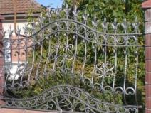 ворота кованого забора