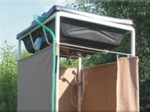 как построить душ для дачи с подогревом