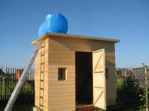 летний душ на даче с раздевалкой фото