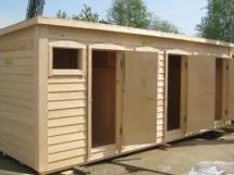 строительство деревянного душа для дачи