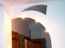 Фото фигурной межкомнатной арки