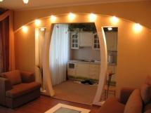 Межкомнатная арка из гипсокартона с подсветкой