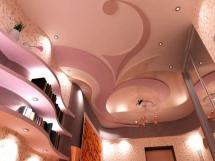 Оформление многоуровневого потолка