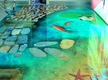 Наливные 3д полы фото с примерами