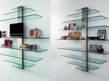 стеклянные настенные полки для книг
