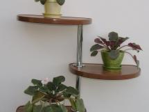 деревянные настенные полки для цветов