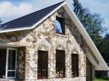 Облицовка фасада дома декоративным камнем
