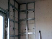 Установка гипсокартона на стены конструкция каркаса