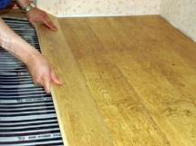 монтаж теплого инфракрасного пола под плитку и ламинат