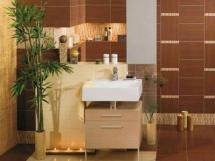 расчет, укладка и облицовка плитки в ванной комнате, фотографии