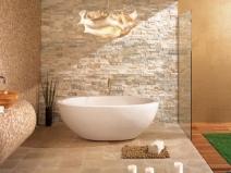 плитка имитация камня на кухне