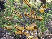 Поделки зи бутылок своими руками фото пчелы