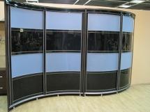 радиусный угловой шкаф купе для прихожей