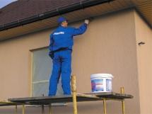 фасадная краска по дереву штукатурке и бетона