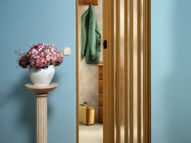 конструкция и размеры раздвижных дверей гармошка