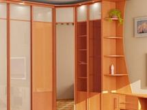 дизайн угловых шкафов купе