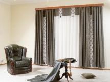 оригинальный дизайн штор для гостиной