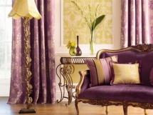 лиловые шторы для гостиной