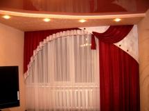 бордовые шторы для гостиной