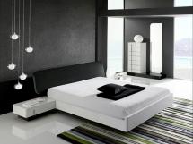 Дизайн спальни в стиле хай тек фото