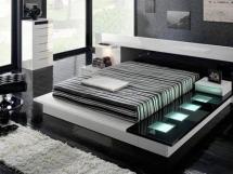 Фото спальни в стиле хай тек