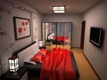 Дизайн и интерьер спальни в восточном стиле фото