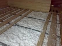технология утепления пола в частном деревянном доме