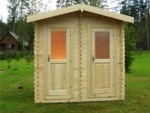 Туалет деревянный для дачи, строительство и устройство