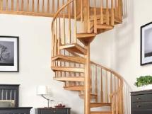 Деревянные винтовые лестницы для дома