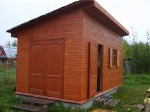 постройка деревянного сарая