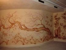 трафареты и краски для рельефной росписи стен