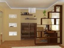 Фотографии примеров зонирования маленькой однокомнатной квартиры