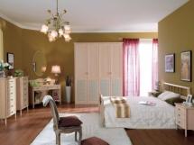 Пример зонирования спальни, зонирование спальни с готсиной