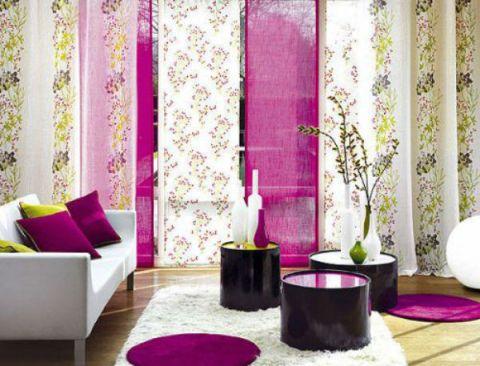 модные японские шторы для зала