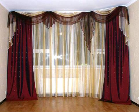 шторы и тюль для зала из органзы